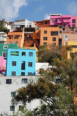 Photograph - Colorful Hilltop Buildings In Guanajuato, Mexico by Tatiana Travelways