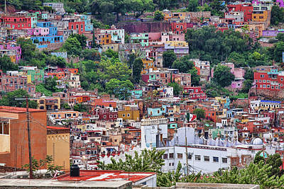 Photograph - Colorful Hilltop Houses In Guanajuato, Mexico 2 by Tatiana Travelways