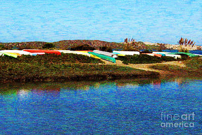 Bath Time Rights Managed Images - Colorful Kayak Royalty-Free Image by Katherine Erickson