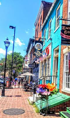 Photograph - Colorful Life Of Fells Point by Lisa Bunsey