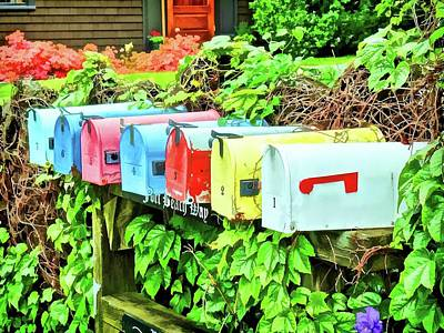 Photograph - Colorful Mailboxes by Don Margulis