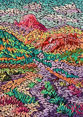 Wall Art - Pastel - Colorful Mountains by Candy Mayer