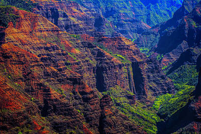 Colorful Mountains Of Kauai Art Print