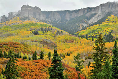 Photograph - Colorful Mountainsides Along Owl Creek Pass Road by Ray Mathis