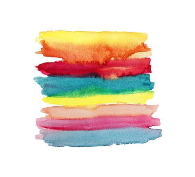 Painting - Colorful No1 Watercolor Painting by Mahsa Watercolor Artist