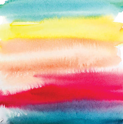 Painting - Colorful No2 Watercolor Painting by Mahsa Watercolor Artist