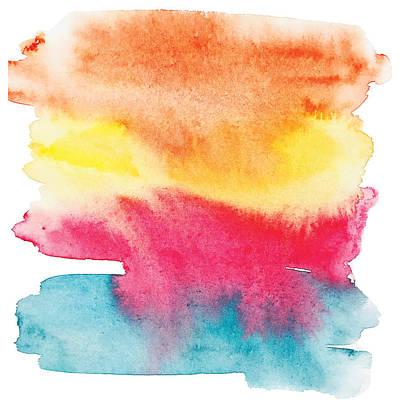 Painting - Colorful No.3  Design By #mahsawatercolor by Mahsa Watercolor Artist