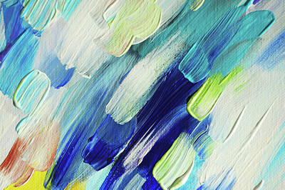 Photograph - Colorful Rain Fragment 7. Abstract Painting by Jenny Rainbow