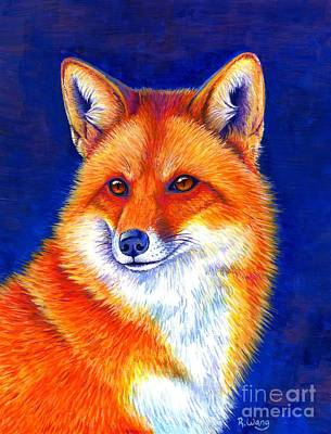 Colorful Red Fox Art Print