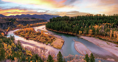 Photograph - Colorful River Sunrise by Leland D Howard
