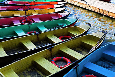 Photograph - Colorful Row Boats by Doug Mckinlay
