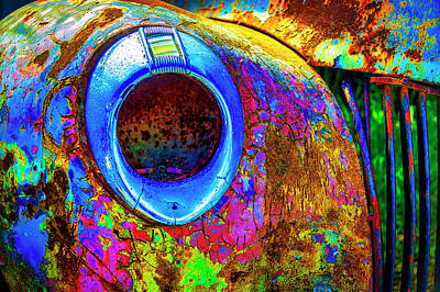 Photograph - Colorful Rusting Fender by Garry Gay