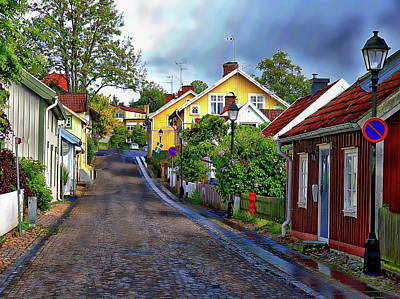Photograph - Colorful Scandinavian Houses by Anthony Dezenzio