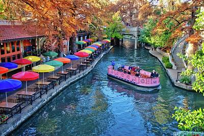 Photograph - Colorful Sights Along The San Antonio Riverwalk by Lynn Bauer