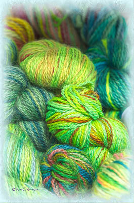 Photograph - Colorful Skeins Of Yarn by Kae Cheatham