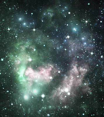 Photograph - Colorful Space Galaxy Background Image by Sololos