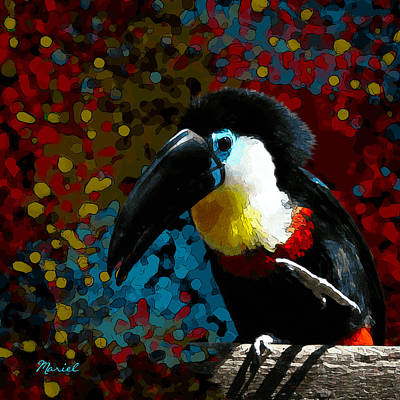 Digital Art - Colorful Toucan by Mariella Wassing