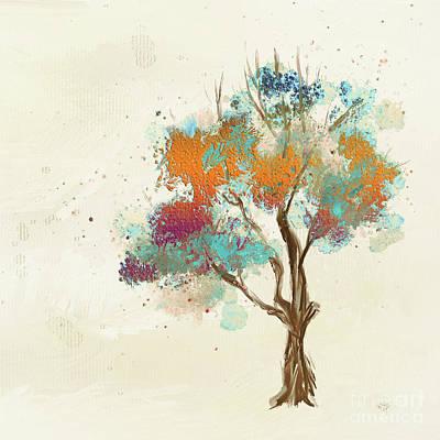 Digital Art - Colorful Tree by Lois Bryan