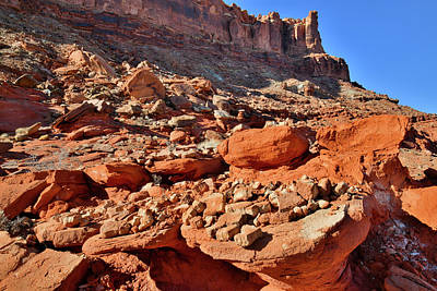 Photograph - Colorful Utah Hillside Near Moab by Ray Mathis
