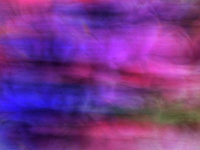 Royalty-Free and Rights-Managed Images - Colorful watercolor abstract art with pinks purples and greens by Teri Virbickis