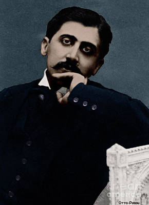 Photograph - Colorized Portrait Of Proust by French School