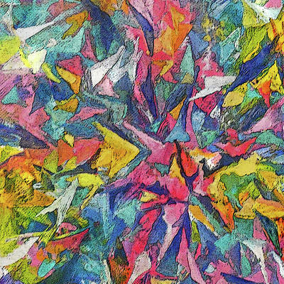 Painting - Colored Shards by Jean Batzell Fitzgerald