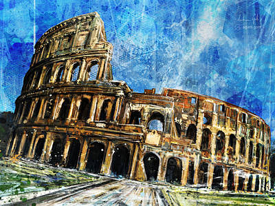 Surrealism Royalty-Free and Rights-Managed Images - Colosseo by Andrea Gatti