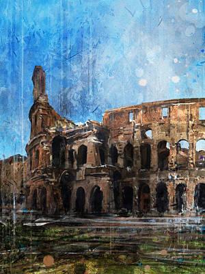 Surrealism Digital Art - Colosseo scorcio by Andrea Gatti