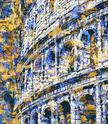Painting - Colosseum, Rome - 11 by Andrea Mazzocchetti