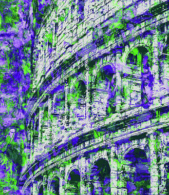 Painting - Colosseum, Rome - 13 by Andrea Mazzocchetti