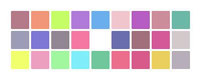 Colour Alphabet Lower Art Print