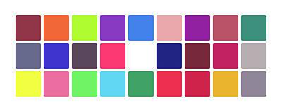 Colour Alphabet Upper Art Print