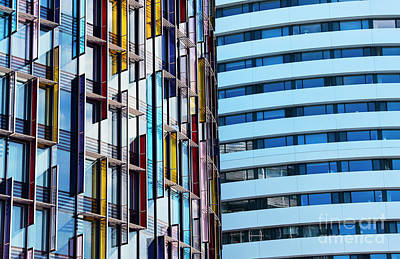 Photograph - Coloured Rectangles by Tim Gainey
