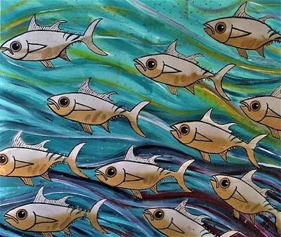 Coloured Water Fish Original