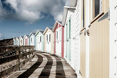 Photograph - Colourful Bude Beach Huts II by Helen Northcott