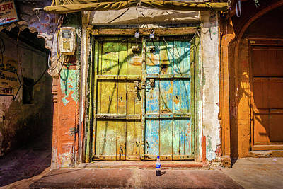 Photograph - Colourful Doors Agra by Gary Gillette