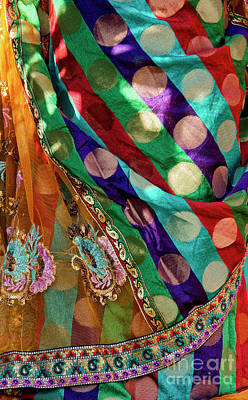 Photograph - Colourful Sari by Tim Gainey
