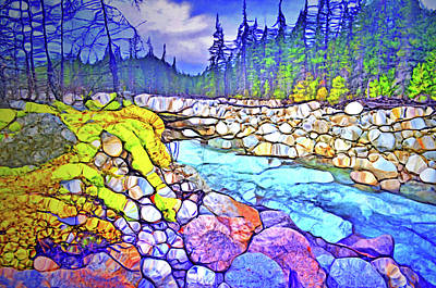 Digital Art - Colours Along The Athabasca River by Tara Turner