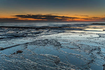 Photograph - Colours Of A Dawn Seascape From Rock Ledge by Merrillie Redden