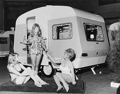 Photograph - Colt Caravan On Show by Fox Photos