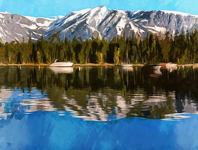 Painting - Colter Bay Reflections Wyoming by Dan Sproul