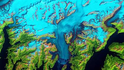 Royalty-Free and Rights-Managed Images - Columbia Glacier  Alaska  NASA by Celestial Images