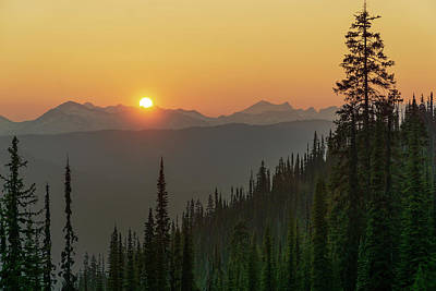 Photograph - Columbia Mountain Sunset by Dave Matchett