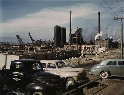 Painting - Columbia Steel Co  Geneva  Utah  November 1942. Photo By Andreas Feininger  by Celestial Images