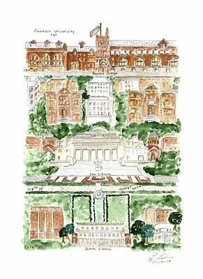 Painting - Columbia University by Afinelyne