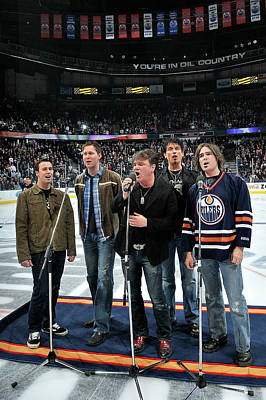 Photograph - Columbus Blue Jackets V Edmonton Oilers by Andy Devlin