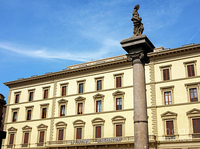 Photograph - Column Of Abundance Florence by John Rizzuto