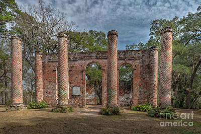 Photograph - Columns Of Time - Old Sheldon Church Ruins by Dale Powell