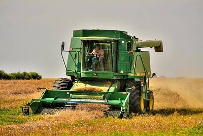 Photograph - Combine Almost Done by David Matthews