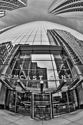 Photograph - Comcast Center Philadelphia Bw by Susan Candelario